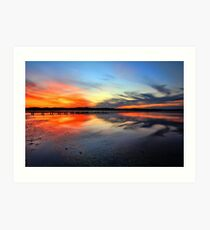 Sunset @ Long Jetty, Tuggerah Lake Art Print