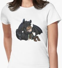 How To Train Your Dragon Manga Design Women's Fitted T-Shirt
