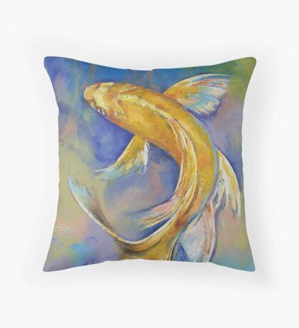 Orenji Butterfly Koi Throw Pillow