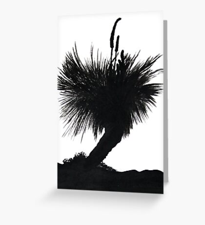 Silhouette Tree Greeting Card