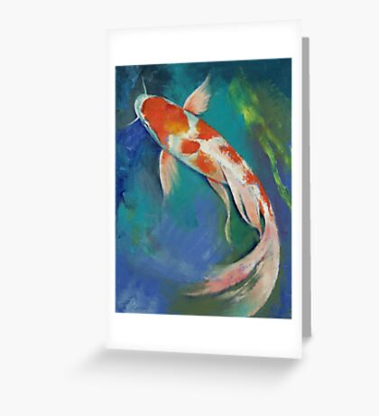 Kohaku Butterfly Koi Greeting Card
