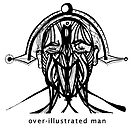 over illustrated man by gary barbati