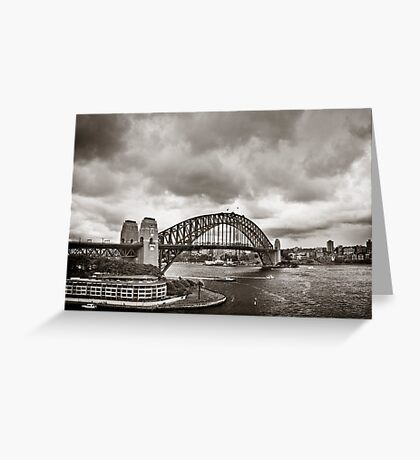 Sydney Harbour Bridge in B&W Greeting Card