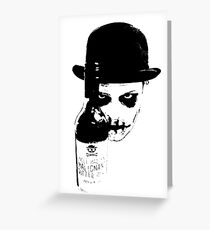 Sinister Chap With Gutter Juice Greeting Card