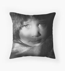 Eyes in Chiaroscuro Throw Pillow