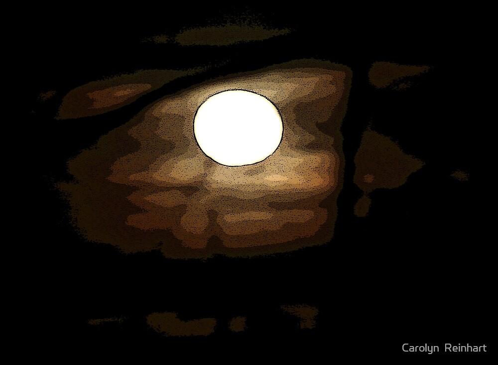 Moon Art by Carolyn  Reinhart