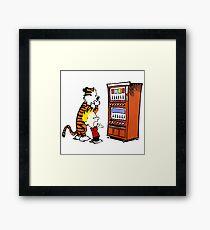 Calvin Hobbes Vending Machine Framed Print