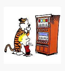 Calvin Hobbes Vending Machine Photographic Print