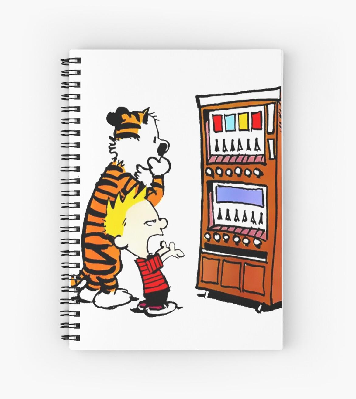 Cuadernos de espiral «Máquina expendedora de Calvin Hobbes» de ...