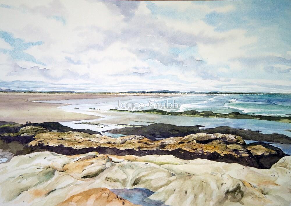Beach at St.Andrews Scotland by Joyce Grubb