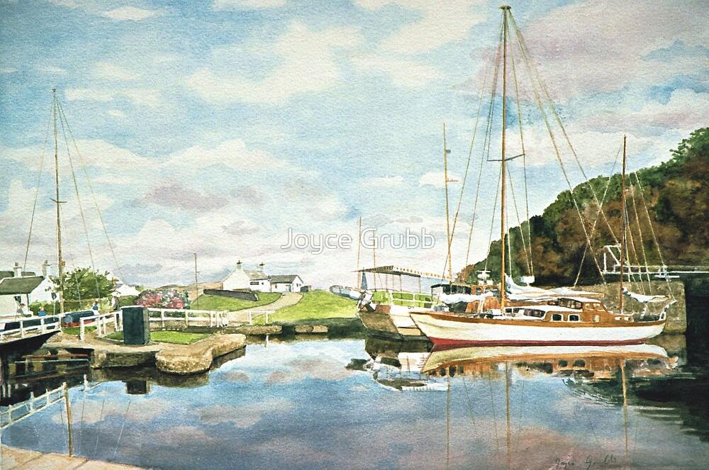 Crinan Canal Scotland by Joyce Grubb