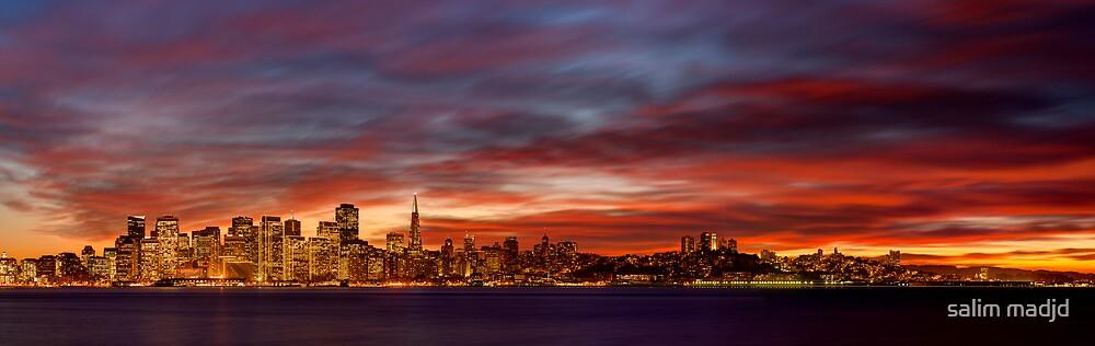 Where Sun Paints the Horizon by salim madjd