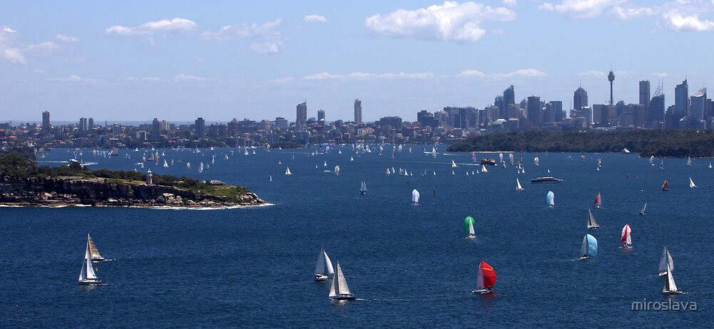 north head manly - sail away.... by miroslava
