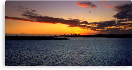 north head manly - sunset in the distance by miroslava