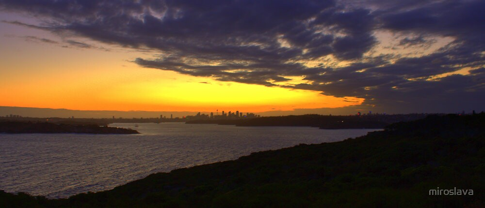 north head manly - in the distance by miroslava