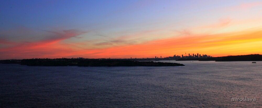 north head manly - just sunset by miroslava
