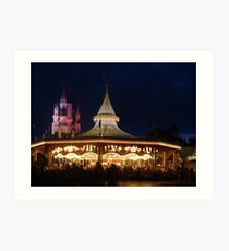 Prince Charming's Regal Carrousel Art Print