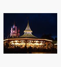 Prince Charming's Regal Carrousel Photographic Print