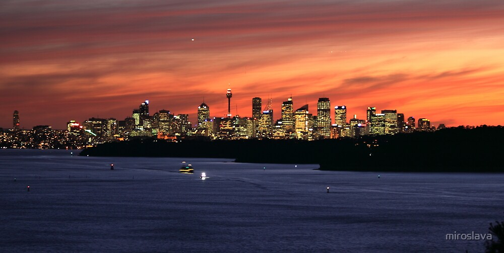 north head manly - night city by miroslava