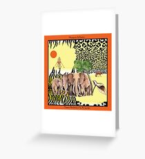 Elegant Rendezvous by Ro London - Menagerie Collection Greeting Card