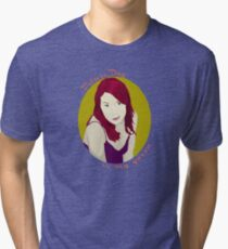 Felicia Day is My Queen Tri-blend T-Shirt