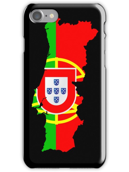Portugal Flag and Map by Nhan Ngo