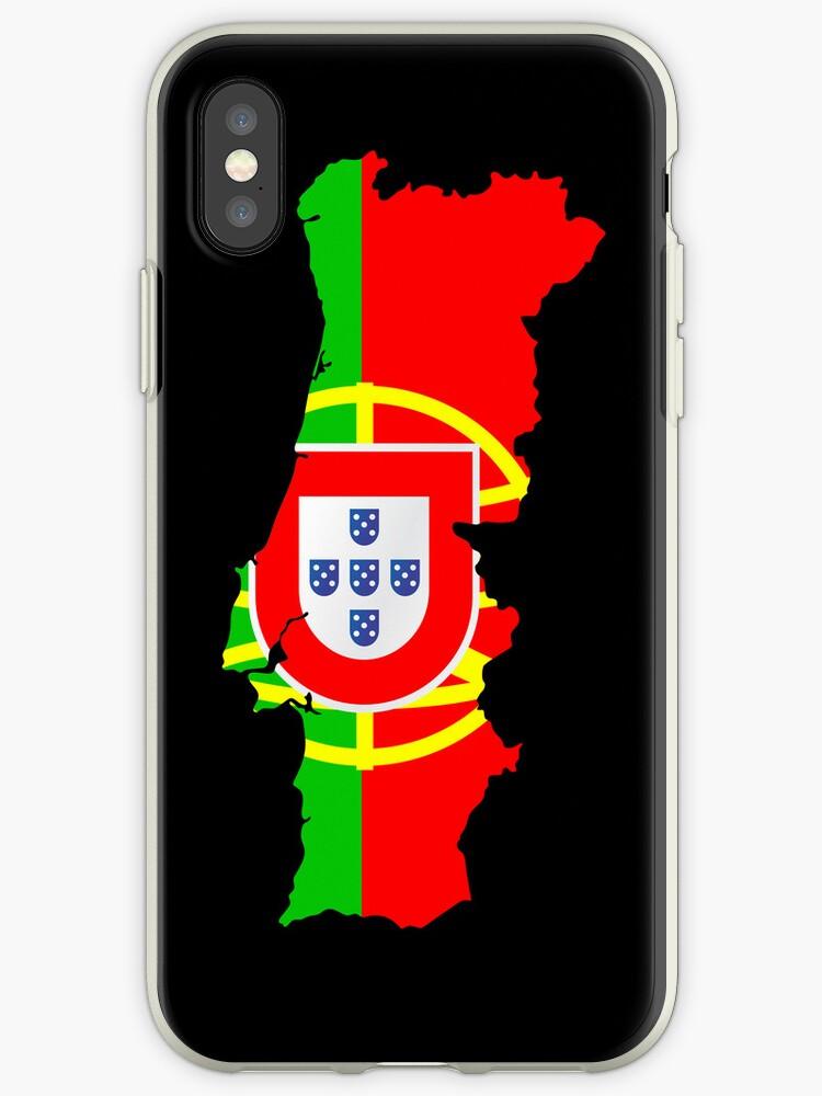 Portugal Flag and Map by Van Nhan Ngo
