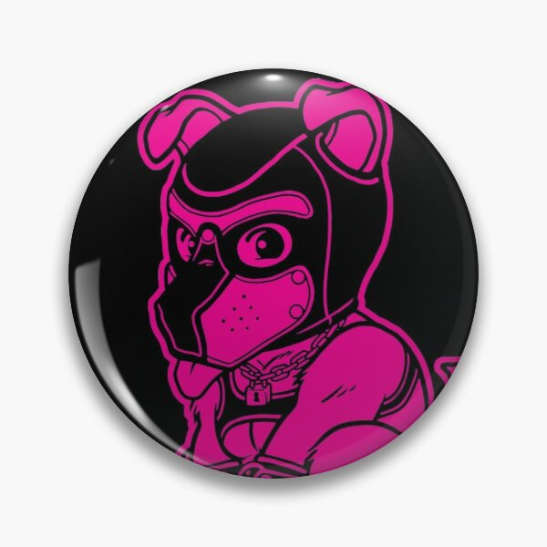 PLAYFUL PUPPY - PINK LINEART - BEARZOO SERIES Pin