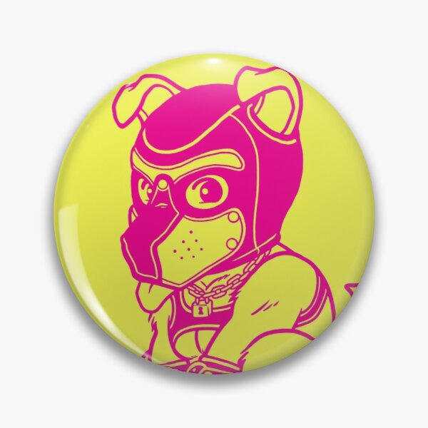 PLAYFUL PUPPY - PINK LINEART 2 - BEARZOO SERIES Pin