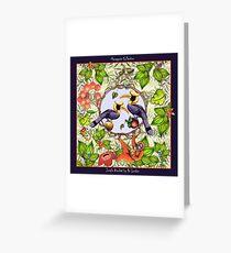 Jungle Acrobat by Ro London - Menagerie Collection Greeting Card