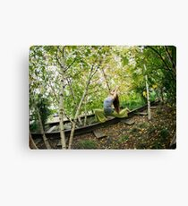 Yoga at the High Line Park, New York Canvas Print
