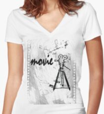 movie film Women's Fitted V-Neck T-Shirt