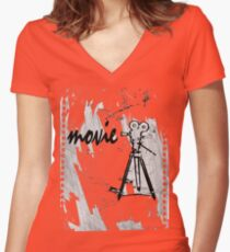 movie film Women's Fitted V-Neck T-Shirt