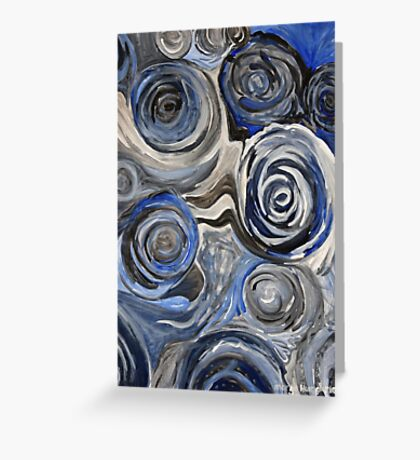 Surging & Rushing Greeting Card