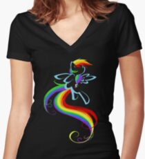 Flowing Rainbow Women's Fitted V-Neck T-Shirt