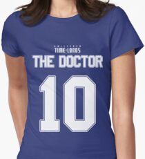 Team Tennant (The Doctor Team Jersey #10) Women's Fitted T-Shirt