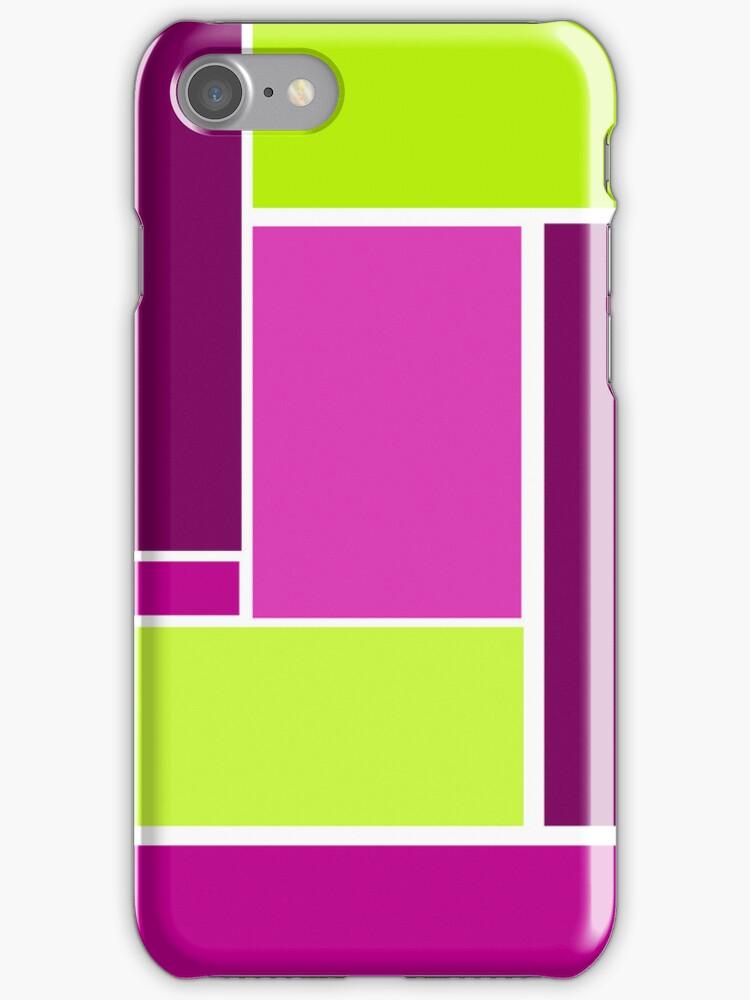 Bold, Geometric Design in Purple and Green by ArtformDesigns