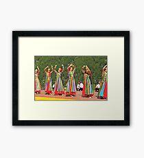 Uzbeki dancing girls Framed Print