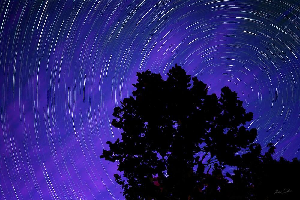 Ohio Night Sky - Star Trails by Gregory Ballos