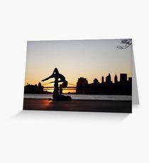 Acroyoga at Williamsburg, New York Greeting Card