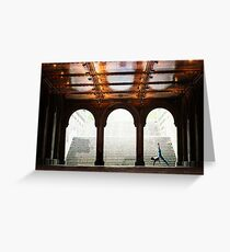 Yoga at Bethesda Terrace, Central Park, New York Greeting Card
