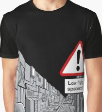 Low Flying Spacecraft Graphic T-Shirt