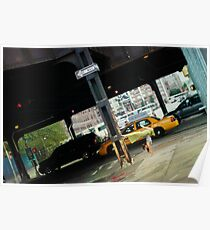 Handstand in the street, Yoga in Manhattan, New York Poster