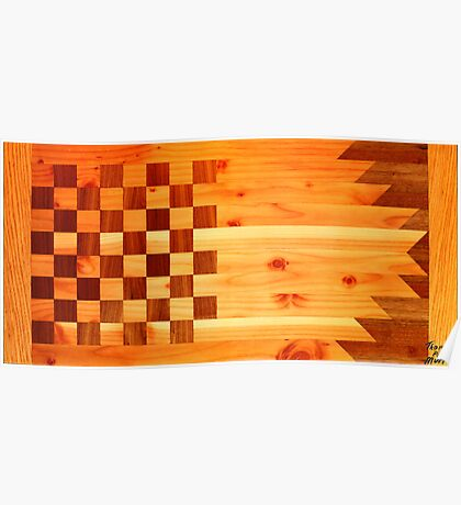 Woodworking Flag Poster