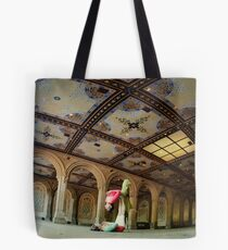 Acroyoga at Bethesda Terrace, New York Tote Bag