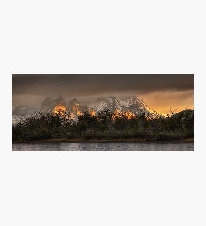 Sunrise in Torres del Paine Photographic Print