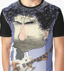 Caricature of Bob Dylan Graphic T-Shirt