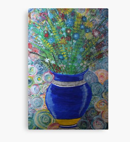 Flowers in vase Canvas Print
