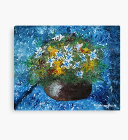 Flowers in Pot Canvas Print