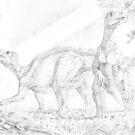 Iguanodon Bernissartensis by A V S TURNER